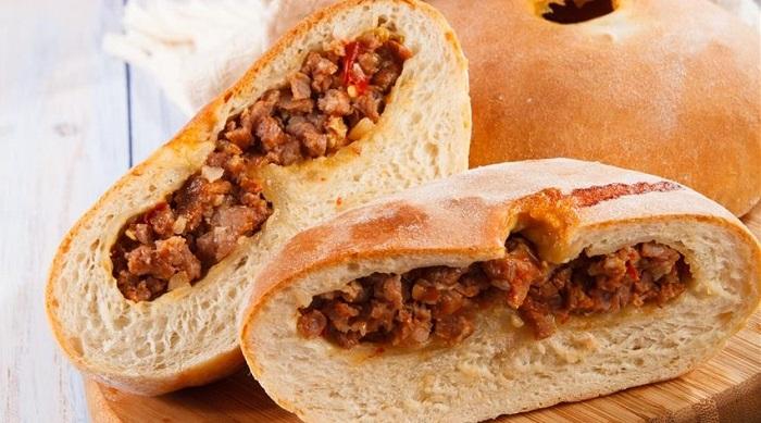 Кудбарі - пиріг з м'ясом
